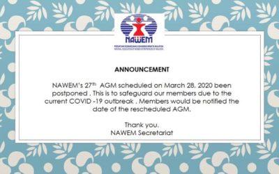 Postponement of NAWEM 27th Annual General Meeting